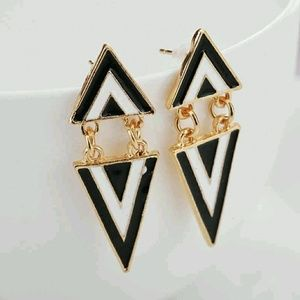 Jewelry - Geometric/Triangular Drop Earrings